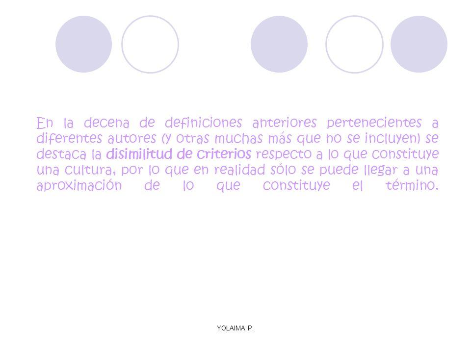 YOLAIMA P. En la decena de definiciones anteriores pertenecientes a diferentes autores (y otras muchas más que no se incluyen) se destaca la disimilit