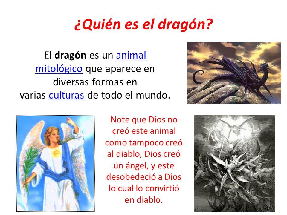 Pregunto: ¿Usted como cristiano, adoraría al dragón sabiendo que es un símbolo del diablo.