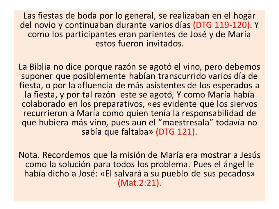 Y al leer el desenlace de este acontecimiento descubrimos los beneficios de obedecer la orden de María: «haced todo lo que Él os diga».