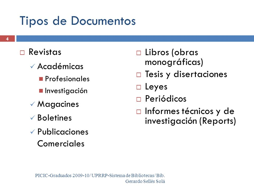 4 PICIC-Graduados 2009-10/ UPRRP-Sistema de Bibliotecas/ Bib.