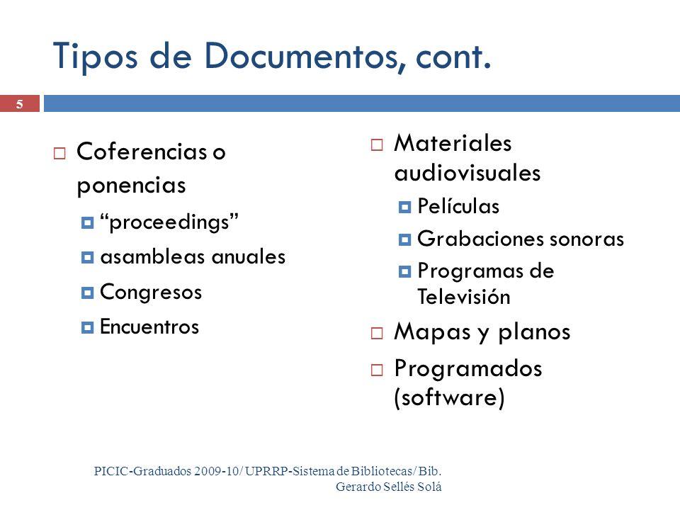 5 PICIC-Graduados 2009-10/ UPRRP-Sistema de Bibliotecas/ Bib.