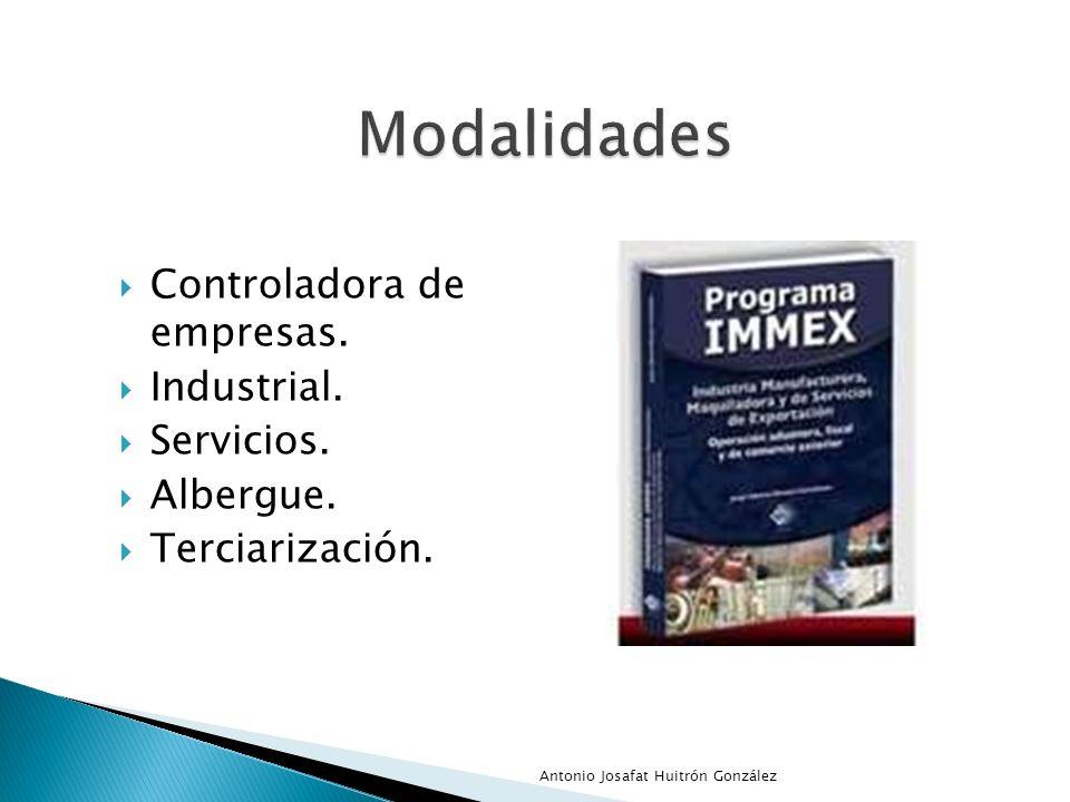 Controladora de empresas. Industrial. Servicios. Albergue. Terciarización. Antonio Josafat Huitrón González