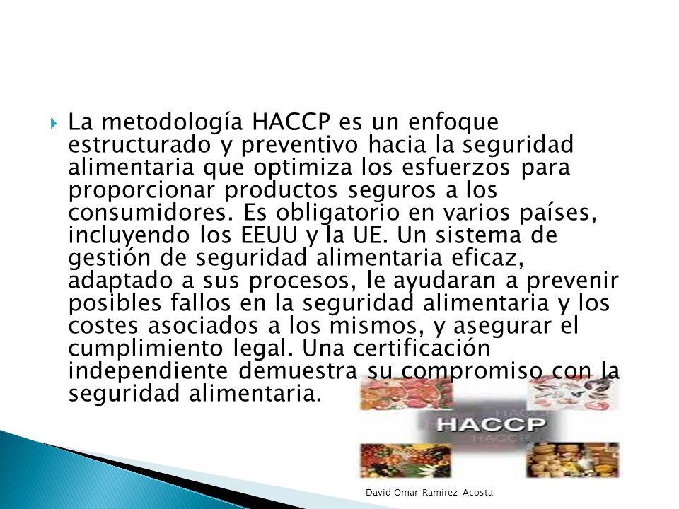 La metodología HACCP es un enfoque estructurado y preventivo hacia la seguridad alimentaria que optimiza los esfuerzos para proporcionar productos seg