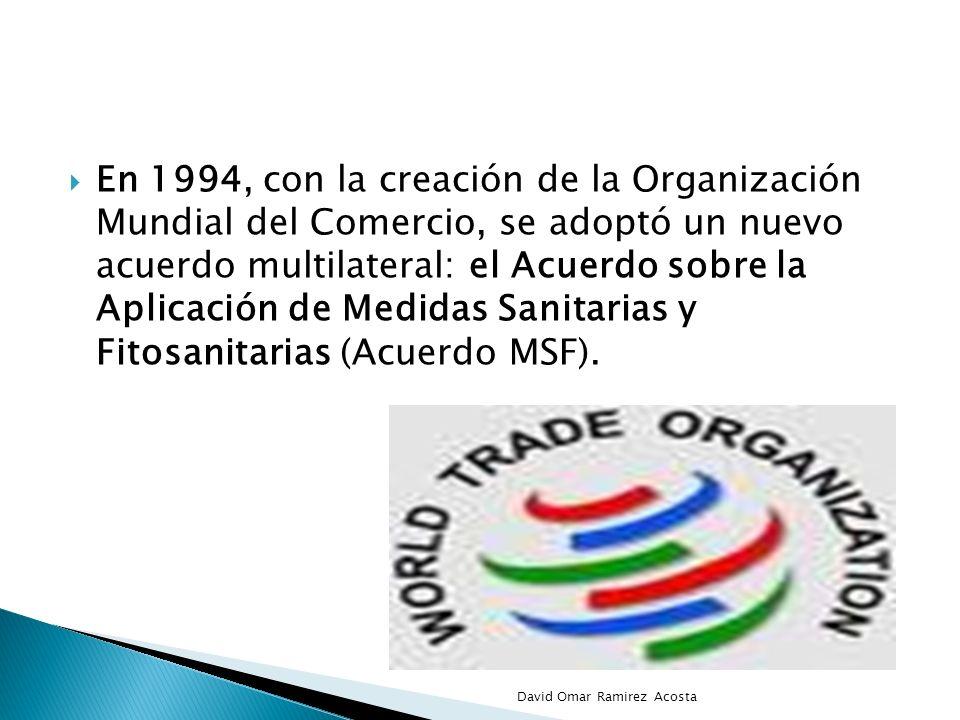 En 1994, con la creación de la Organización Mundial del Comercio, se adoptó un nuevo acuerdo multilateral: el Acuerdo sobre la Aplicación de Medidas S