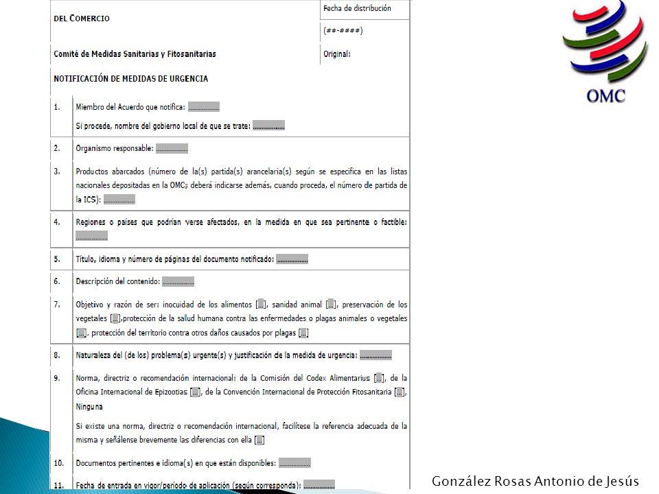 Todas las notificaciones enviadas a la Secretaría de la OMC han de redactarse en uno de los tres idiomas de trabajo de la OMC: español, francés o inglés.
