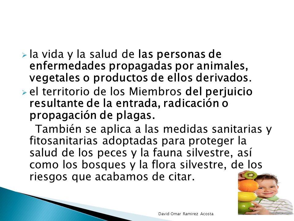 la vida y la salud de las personas de enfermedades propagadas por animales, vegetales o productos de ellos derivados. el territorio de los Miembros de
