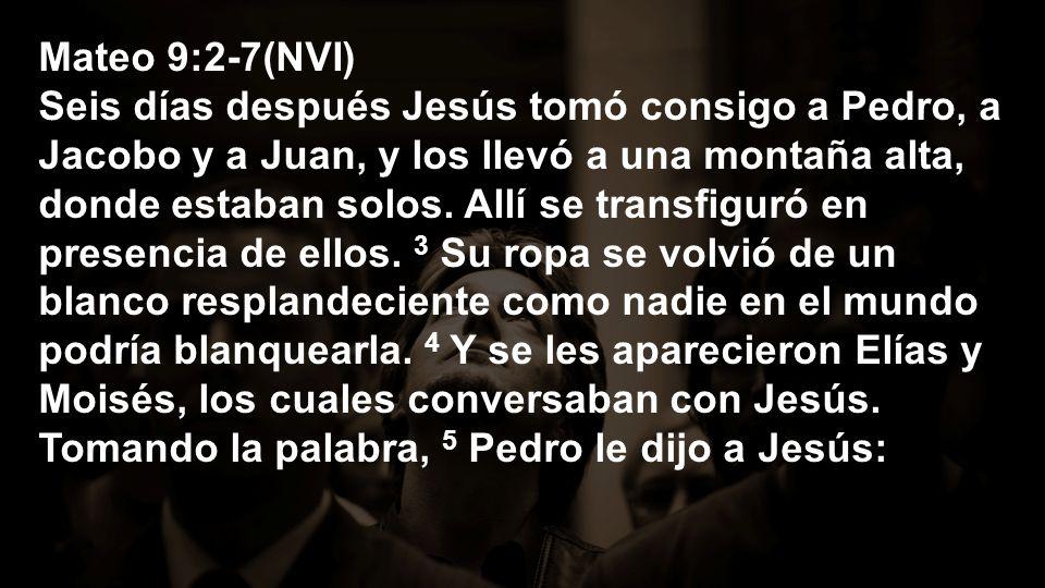 Mateo 9:2-7(NVI) Rabí, ¡qué bien que estemos aquí.