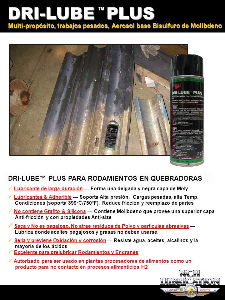 G7 DRI-LUBE PLUS TM DRI-LUBE PLUS PARA RODAMIENTOS EN QUEBRADORAS Multi-propósito, trabajos pesados, Aerosol base Bisulfuro de Molibdeno Lubricante de