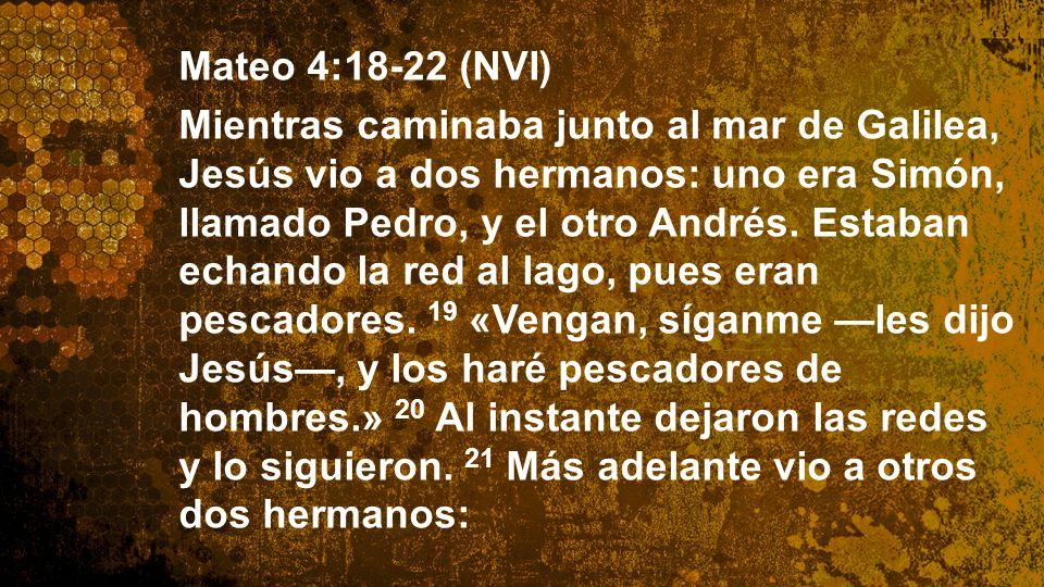 Widescreen 16:9 Mateo 4:18-22 (NVI) Mientras caminaba junto al mar de Galilea, Jesús vio a dos hermanos: uno era Simón, llamado Pedro, y el otro André