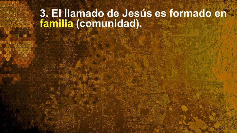Widescreen 16:9 3. El llamado de Jesús es formado en familia (comunidad).