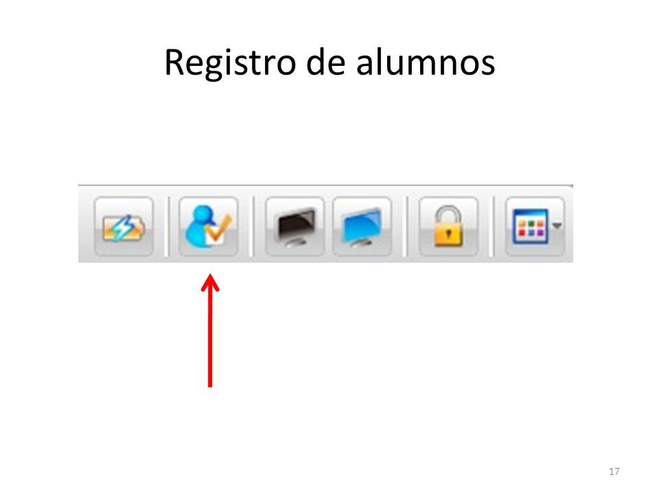 Registro de alumnos 17