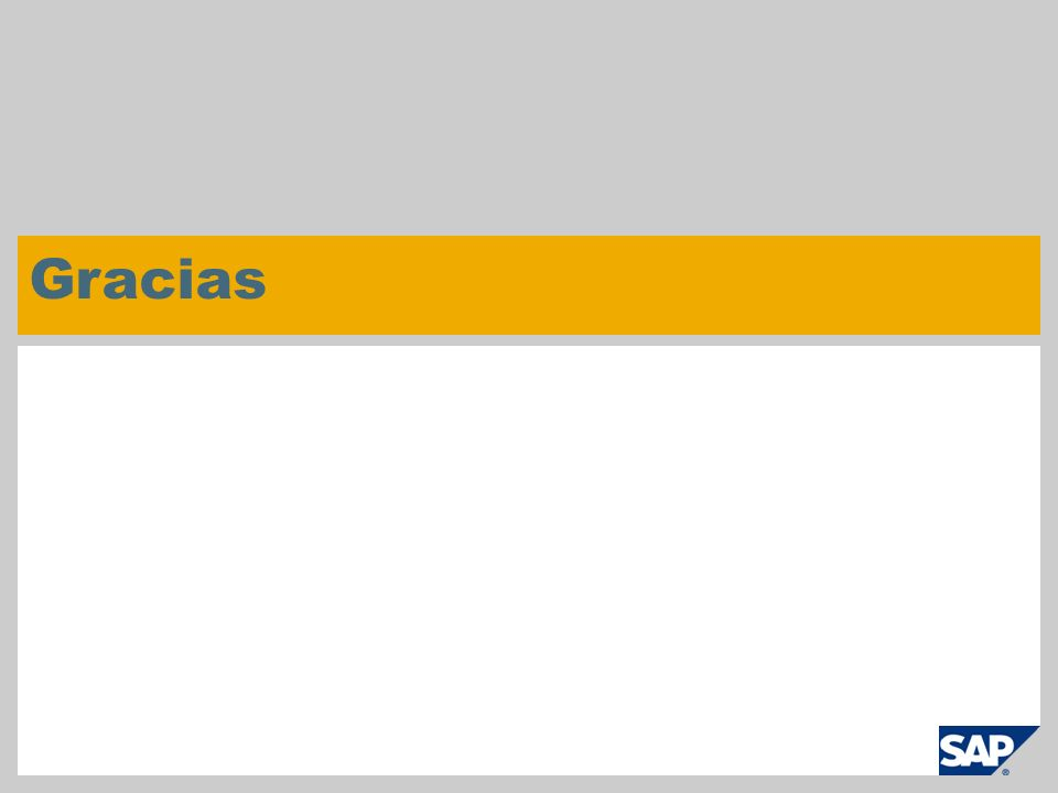 © SAP 2008 / Página 5 Gracias