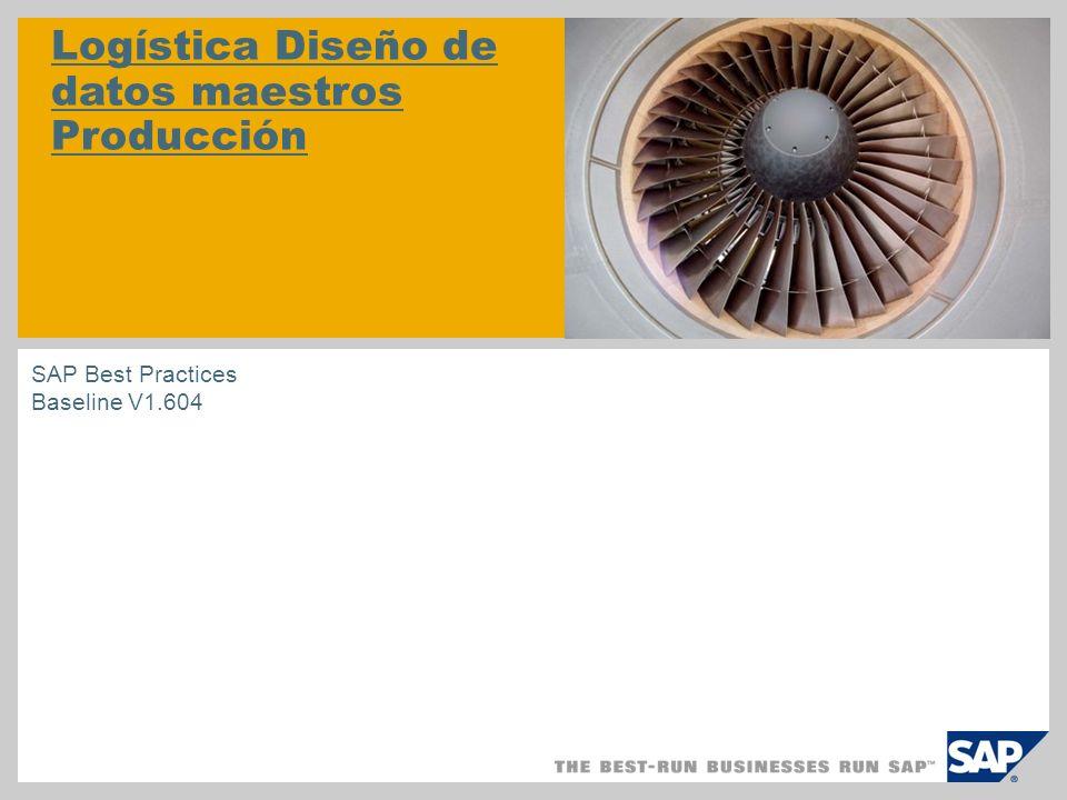 Logística Diseño de datos maestros Producción SAP Best Practices Baseline V1.604