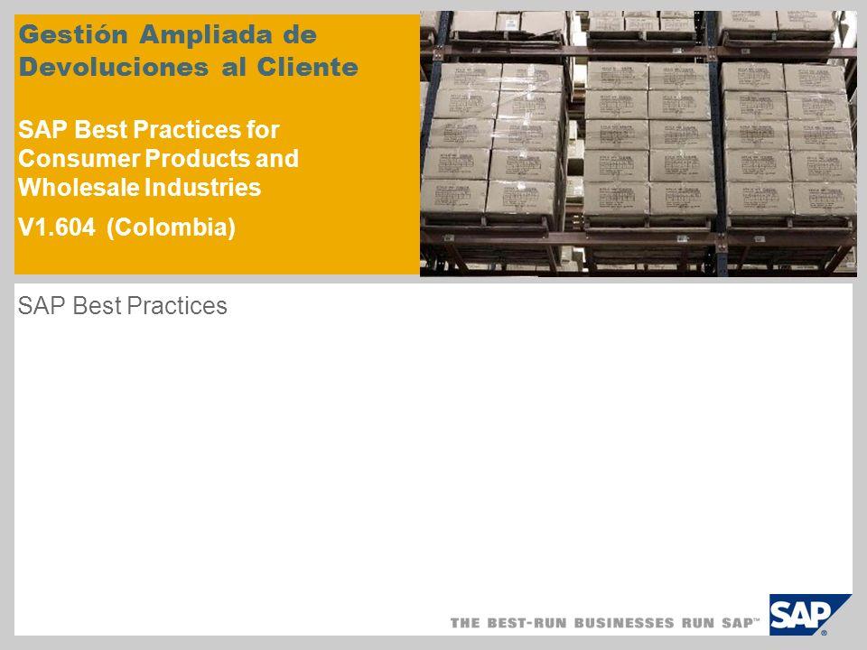 Resumen del escenario – 1 Objetivo Este escenario describe el proceso ampliado de devoluciones de cliente con inspección de material.