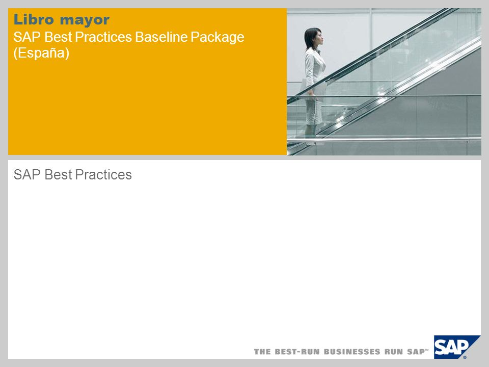 Libro mayor SAP Best Practices Baseline Package (España) SAP Best Practices