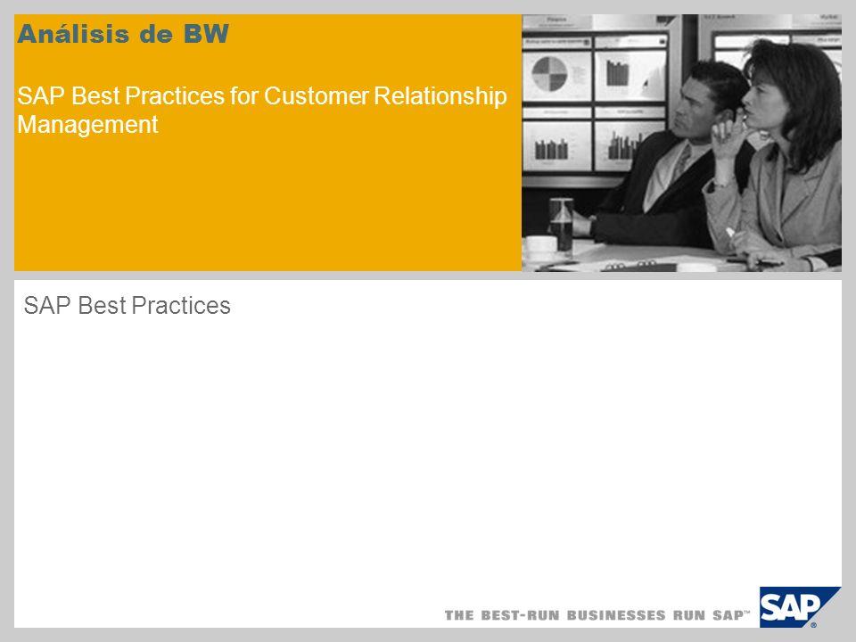 Análisis de BW SAP Best Practices for Customer Relationship Management SAP Best Practices