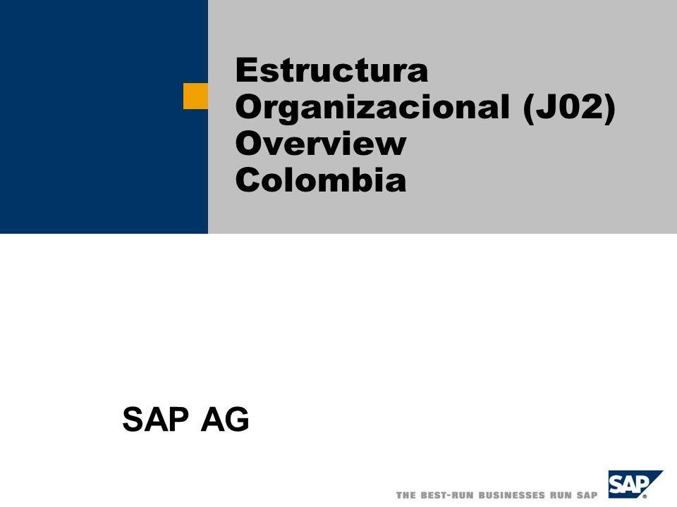 Estructura Organizacional (J02) Overview Colombia SAP AG