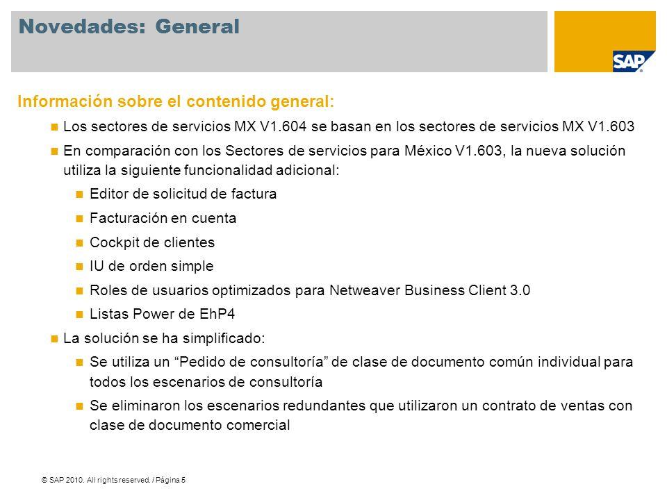 © SAP 2010.All rights reserved. / Página 26 © 2010 SAP AG.