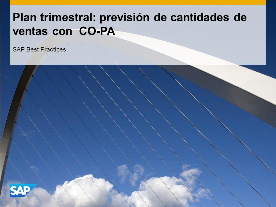 Plan trimestral: previsión de cantidades de ventas con CO-PA SAP Best Practices