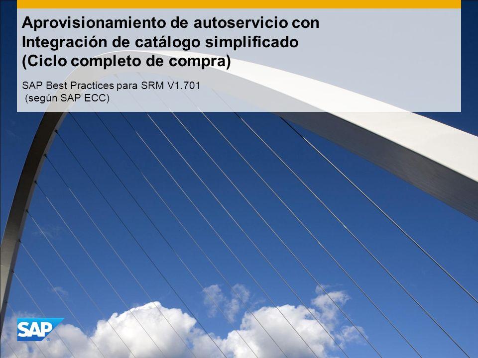 Aprovisionamiento de autoservicio con Integración de catálogo simplificado (Ciclo completo de compra) SAP Best Practices para SRM V1.701 (según SAP ECC)