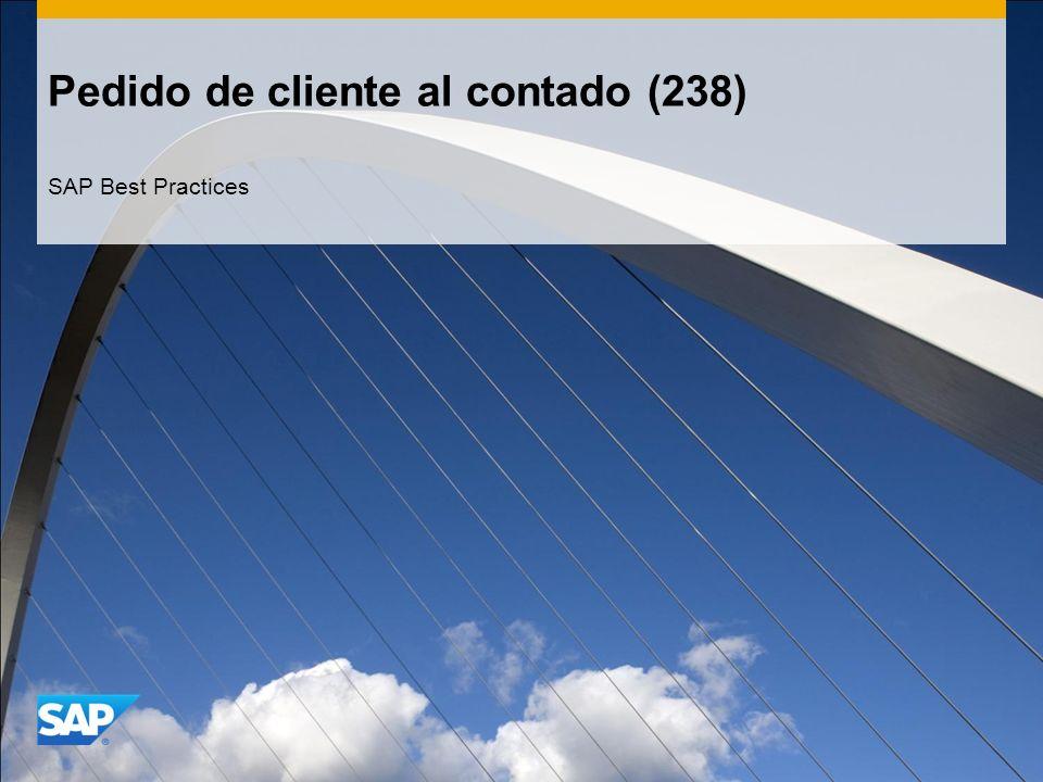 Pedido de cliente al contado (238) SAP Best Practices
