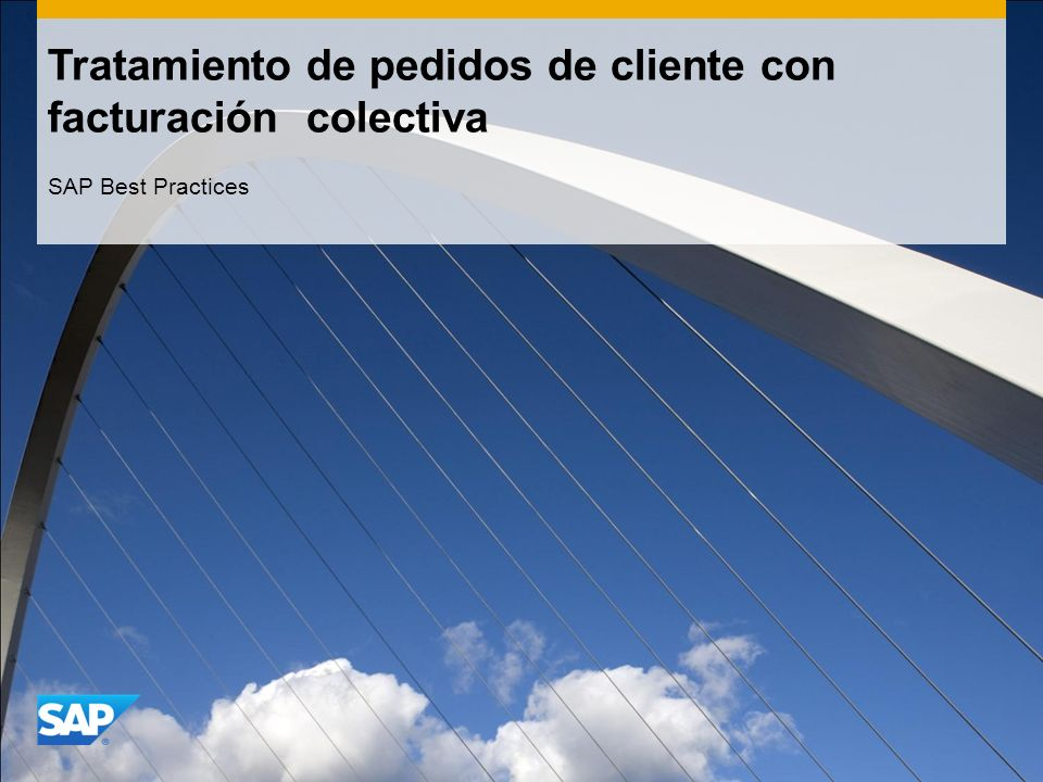 Tratamiento de pedidos de cliente con facturación colectiva SAP Best Practices