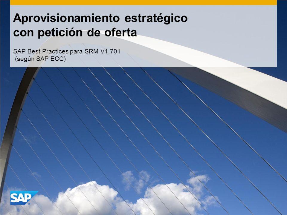 Aprovisionamiento estratégico con petición de oferta SAP Best Practices para SRM V1.701 (según SAP ECC)