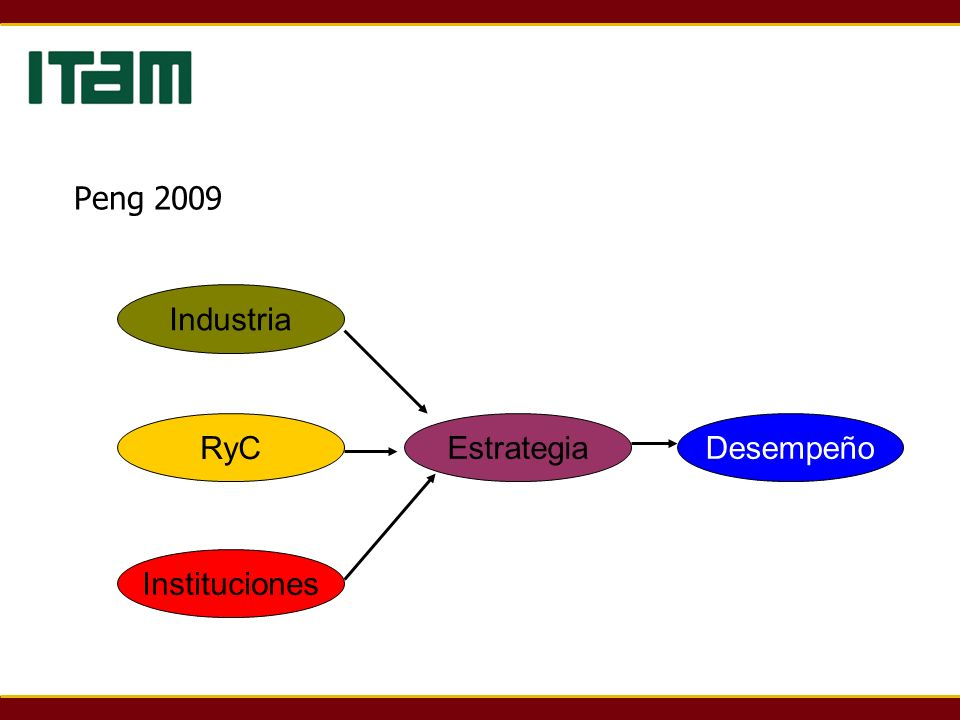 Peng 2009 Industria RyC Instituciones EstrategiaDesempeño
