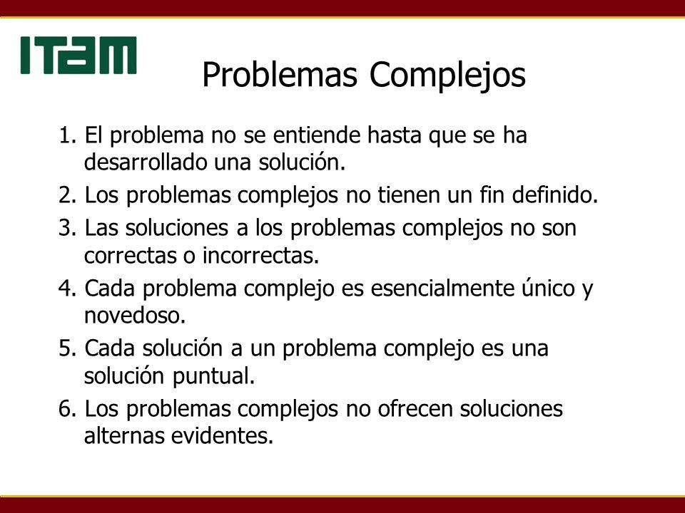 1. El problema no se entiende hasta que se ha desarrollado una solución.