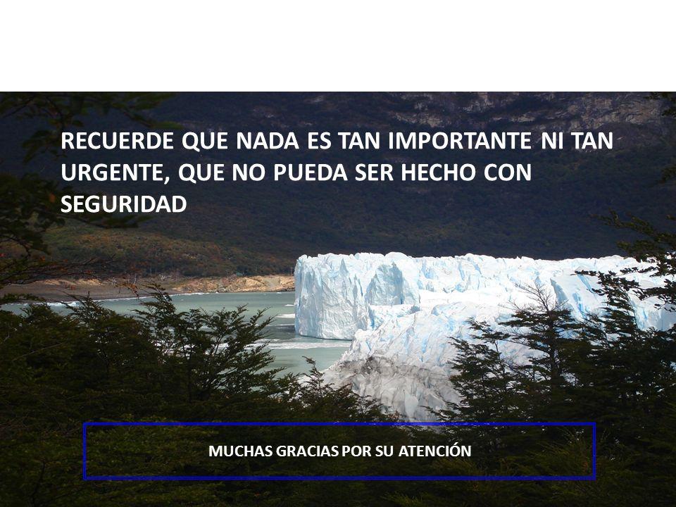Page 34 Lic. Lucas Bosch – Merck Química Argentina - 2008 RECUERDE QUE NADA ES TAN IMPORTANTE NI TAN URGENTE, QUE NO PUEDA SER HECHO CON SEGURIDAD MUC