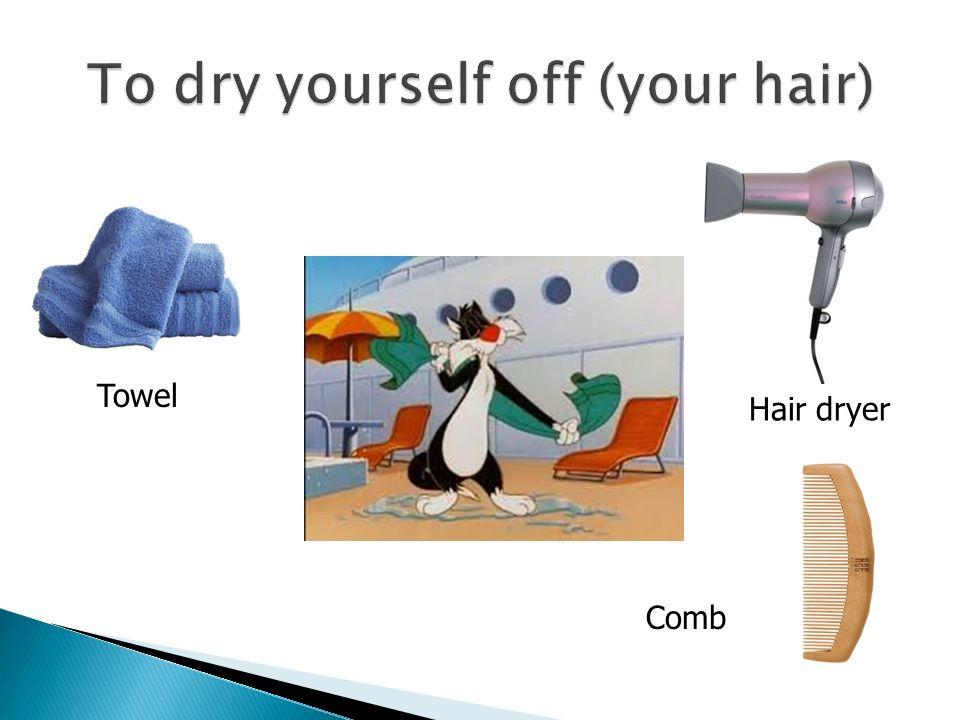 Hair dryer Towel Comb