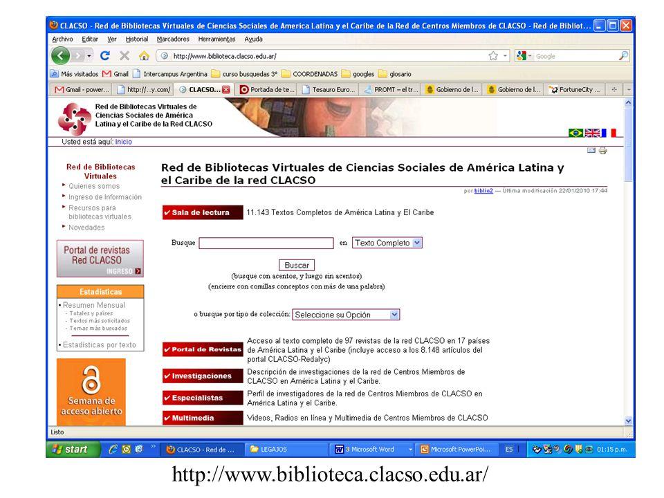 http://www.biblioteca.clacso.edu.ar/