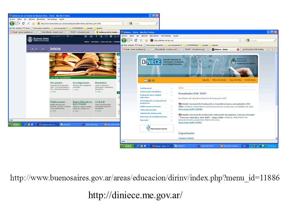 http://www.buenosaires.gov.ar/areas/educacion/dirinv/index.php menu_id=11886 http://diniece.me.gov.ar/