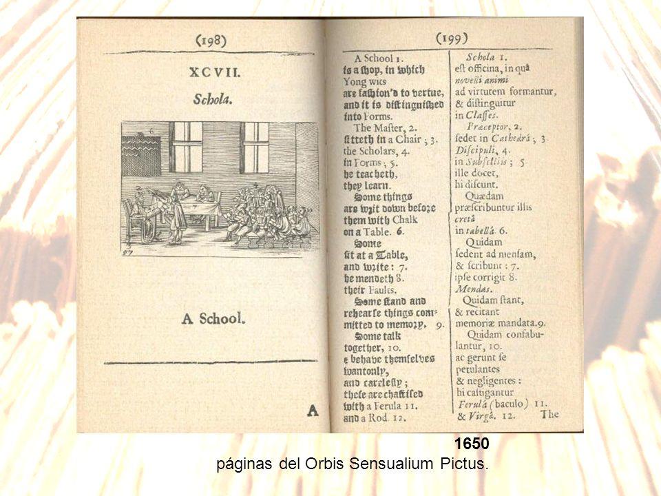 1650 páginas del Orbis Sensualium Pictus.