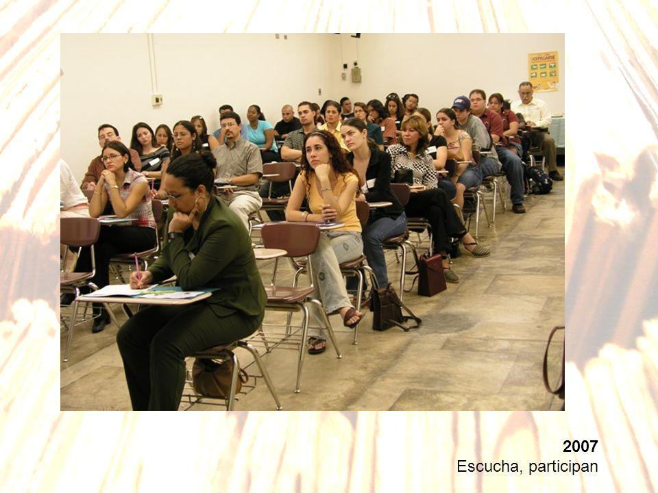 2007 Escucha, participan