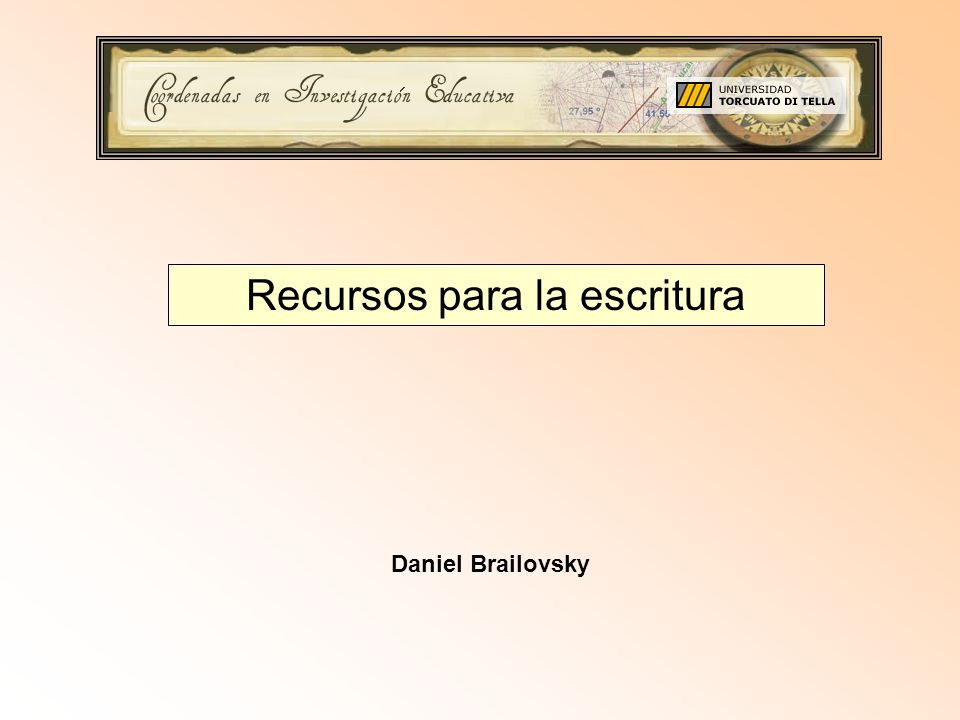 Recursos para la escritura Daniel Brailovsky