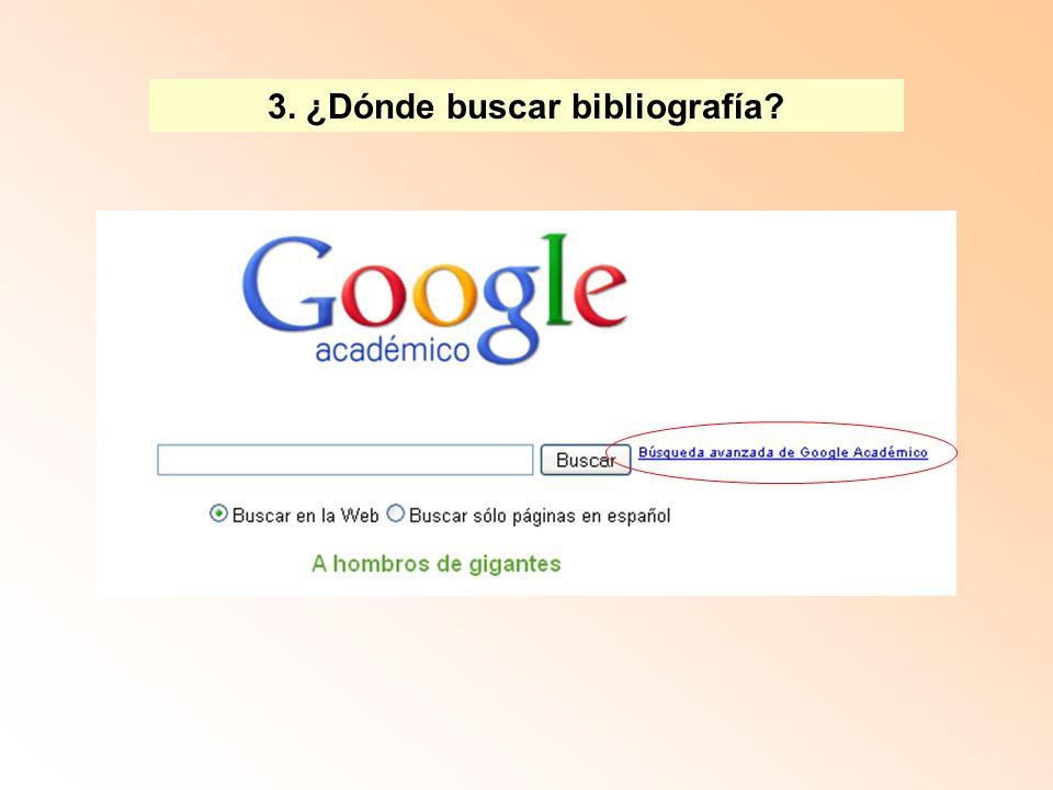 Tres tipos de palabras clave CAMPO TEMÁTICO PROBLEMA ESPECÍFICO REFERENCIA AUTORAL 3.