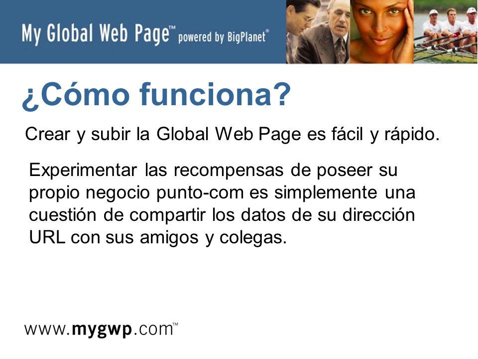 ¿Cómo funciona. Crear y subir la Global Web Page es fácil y rápido.