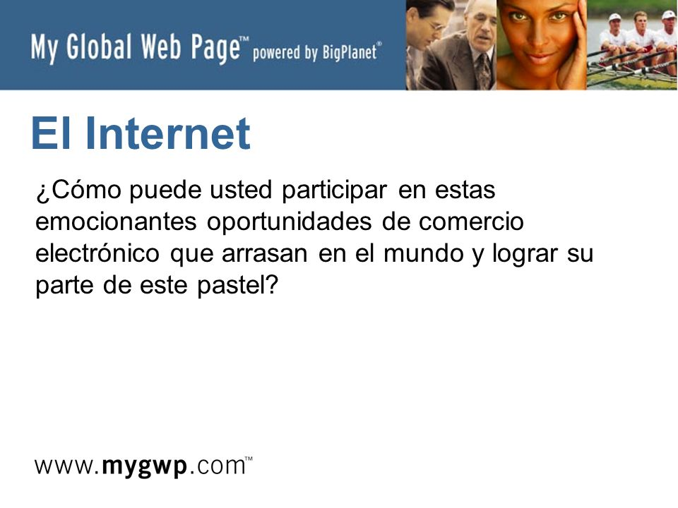 My Global Web Page su oportunidad global de comercio electrónico