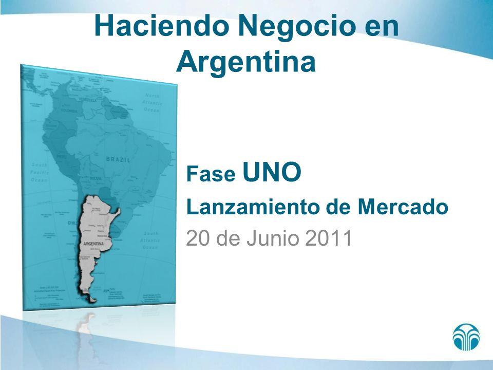 Haciendo Negocio en Argentina Fase UNO Lanzamiento de Mercado 20 de Junio 2011