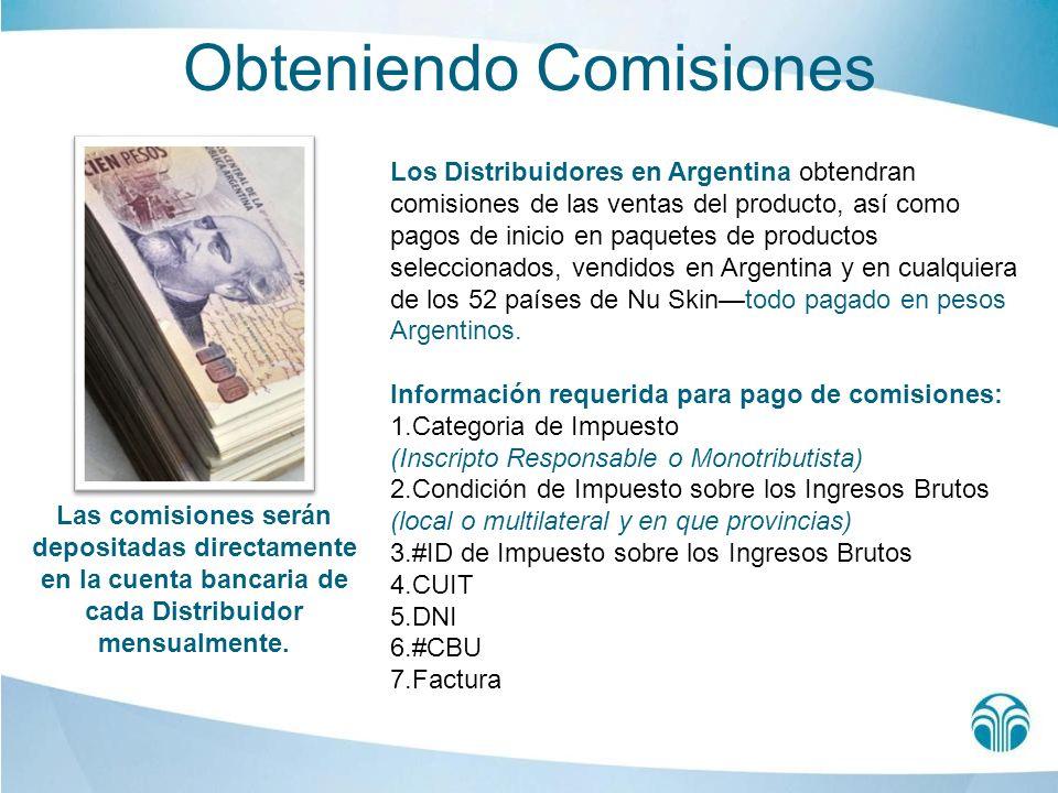 Obteniendo Comisiones Los Distribuidores en Argentina obtendran comisiones de las ventas del producto, así como pagos de inicio en paquetes de product