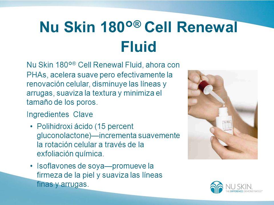 Nu Skin 180° ® Cell Renewal Fluid Nu Skin 180° ® Cell Renewal Fluid, ahora con PHAs, acelera suave pero efectivamente la renovación celular, disminuye