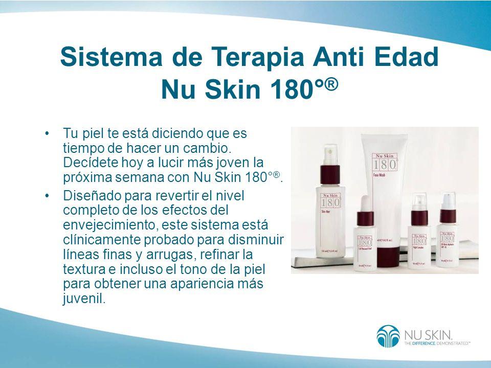 Sistema de Terapia Anti Edad Nu Skin 180° ® Tu piel te está diciendo que es tiempo de hacer un cambio. Decídete hoy a lucir más joven la próxima seman