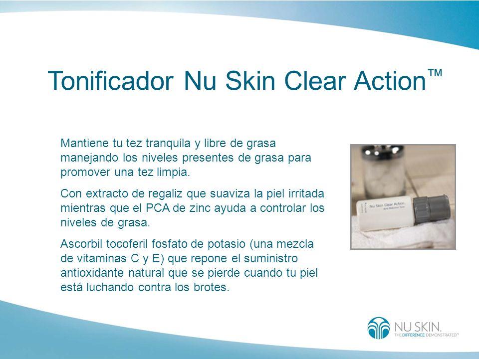 Tonificador Nu Skin Clear Action Mantiene tu tez tranquila y libre de grasa manejando los niveles presentes de grasa para promover una tez limpia. Con