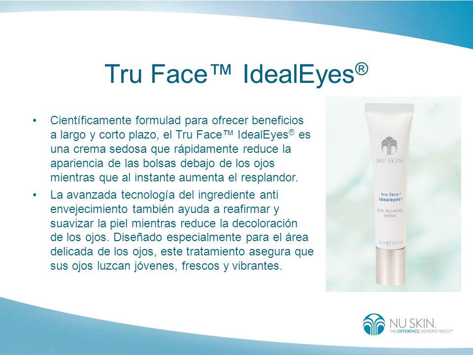 Tru Face IdealEyes ® Científicamente formulad para ofrecer beneficios a largo y corto plazo, el Tru Face IdealEyes ® es una crema sedosa que rápidamen