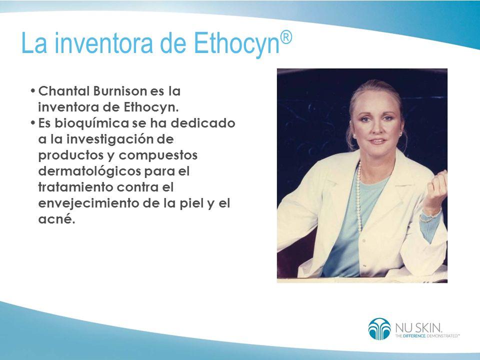 Chantal Burnison es la inventora de Ethocyn.