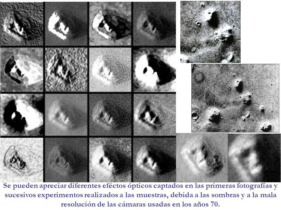 Se pueden apreciar diferentes eféctos ópticos captados en las primeras fotografías y sucesivos experimentos realizados a las muestras, debida a las so