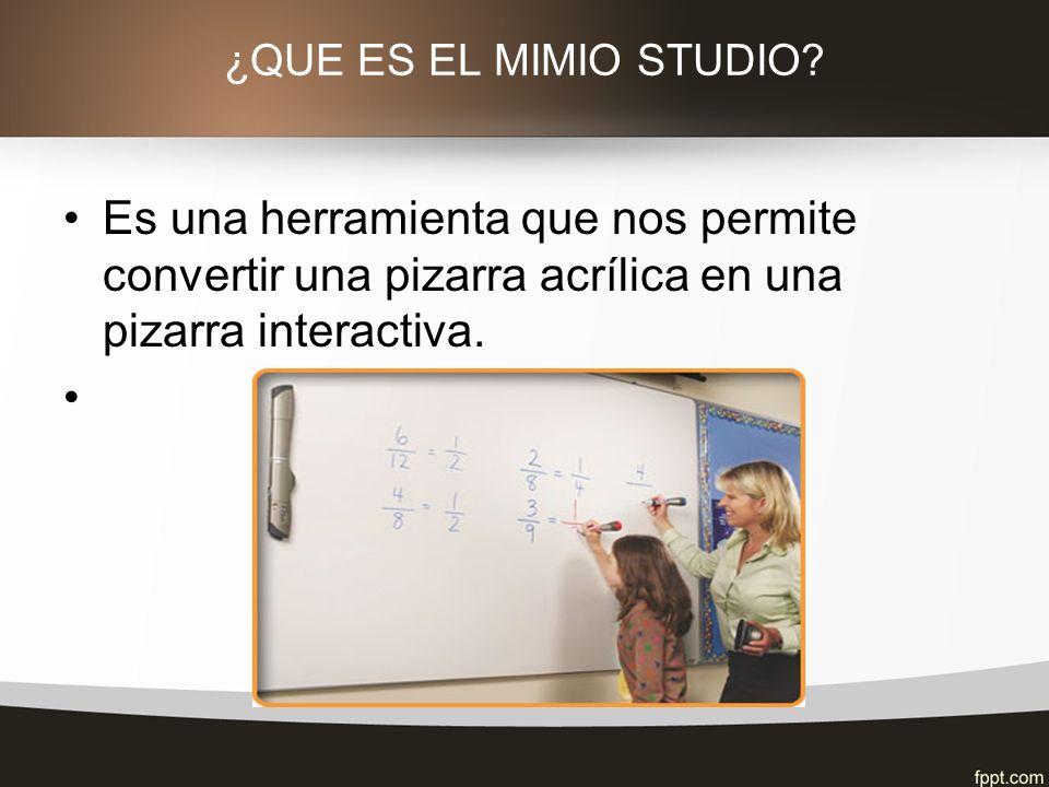 ¿QUE ES EL MIMIO STUDIO.