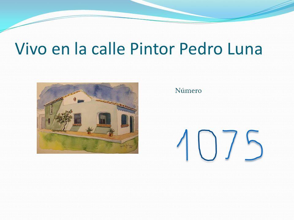 Vivo en la calle Pintor Pedro Luna Número