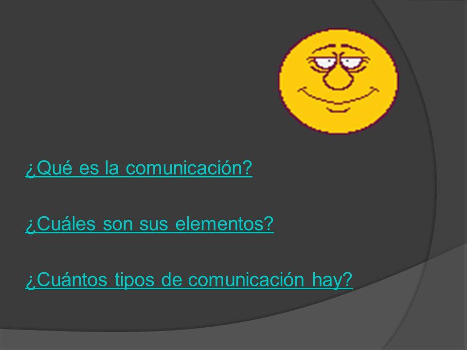¿Qué es la comunicación? ¿Cuáles son sus elementos? ¿Cuántos tipos de comunicación hay?